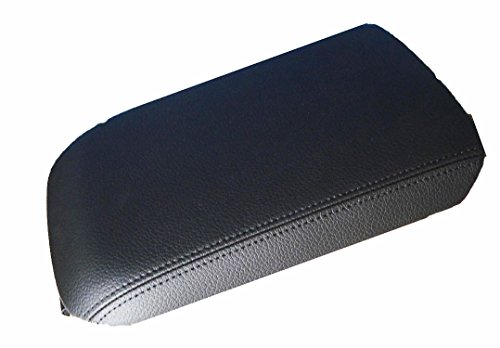 - Fits 2005-2009 Ford Mustang Synthetic Black Leather Center Console Armrest Cover . (Skin Only)