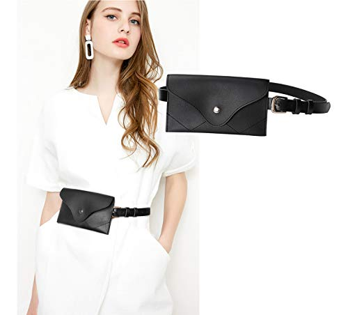 JASGOOD Womens Leather Belt Fanny Pack With Removable Belt Tassel Waist Pouch Fashion Belt Bags -