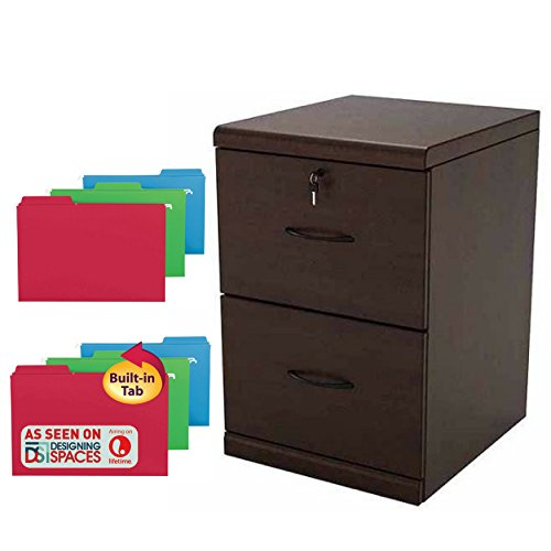 3 Piece Replacement Pick - 2 Drawer Vertical Wood Lockable File Cabinet With 18 Count FasTab Hanging Folders