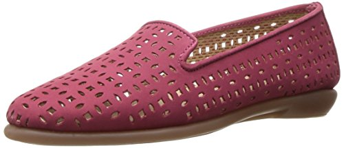 Aerosoles Women's You Betcha Slip-On Loafer Dark Pink Nubuck