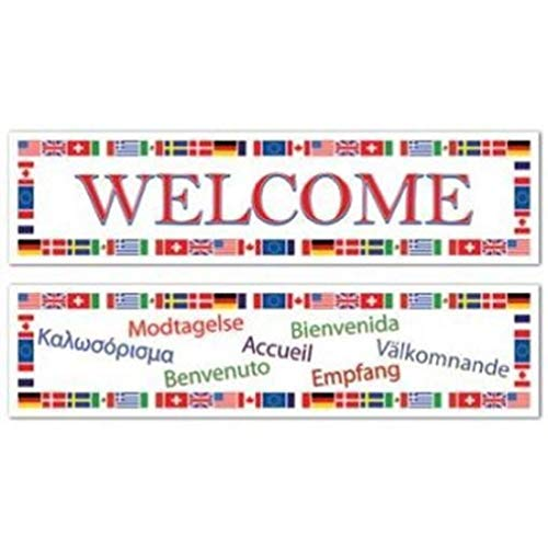 hersrfv home International Welcome All-Weather Banner Set 2 Pack Olympics Travel Decoration]()