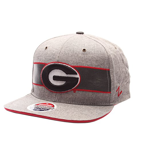 NCAA Georgia Bulldogs Adult Men The Avenue Snapback,Adjustable,Gray