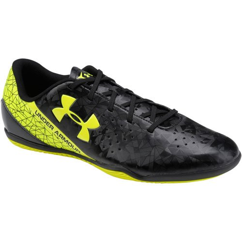 Under Armour Mens Speedform Flash ID Indoor Soccer Shoes Black|yellow
