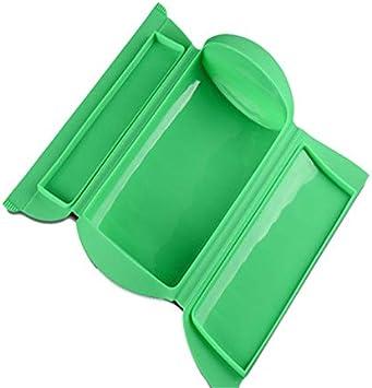 Kalavika Estuche de Vapor, Vaporera Microhondas, sin Bandeja, Silicona, Color Verde, para 1-2 Personas (650 ml), Tamaño 25.5 x 13.5 x 6cm: Amazon.es: Hogar