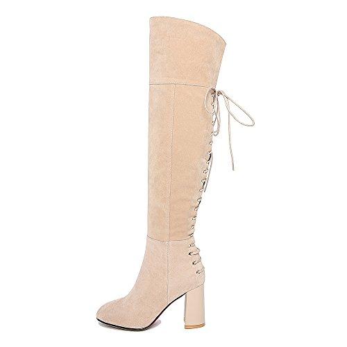 Nine SevenOver-the-knee Boots - Botas mujer albaricoque