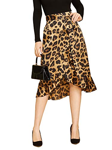 SheIn Womens Leopard Ruffle Casual product image