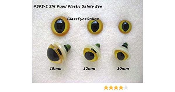 10 Safety Eyes Round 10 MM White//Black Pupil For Fabric /& Cuddly Animals