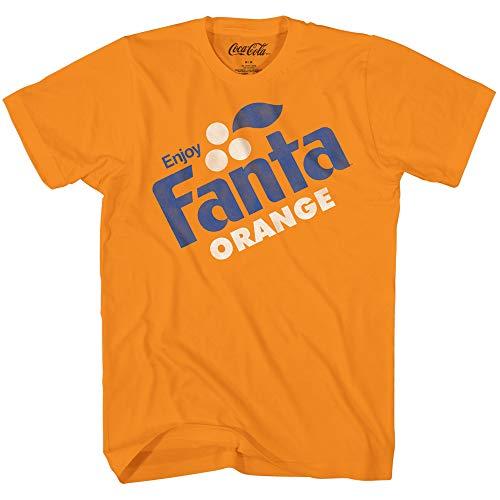 Orange Fanta Logo Soda Pop Drink Classic Retro Funny Costume Men's T-Shirt (Orange, XX-Large) ()