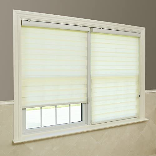 Best Home Fashion Ivory Premium Duo Roller Window Shade – 27 inch Wide