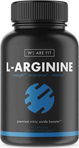 L-Arginine Supplement for Muscle Growth, Endurance, and Energy - Support Nitric Oxide Production and Cardio Health - Extra Strength N.O. Booster with AAKG, L-Citrulline Malate, Beta Alanine, 60 Caps