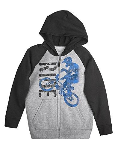 Die Zip Hoodie - Hanes Boy`s FreshIQ Graphic Full Zip Hoodie, L, Ride/Light Steel