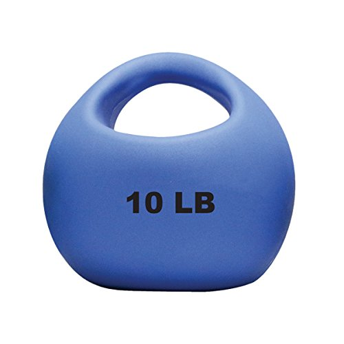 CanDo 10-3294 One Handle Medicine Ball, 10 lb, Blue (10 Lb Medicine Ball With Handles)