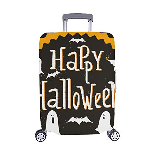 (Cute Halloween Invitation Greeting Card Template Spandex Trolley Case Travel Luggage Protector Suitcase Cover 28.5 X 20.5)