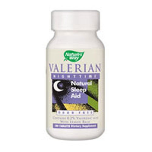 Natures Way Valerian Nighttime, NIGHTIME, 100 Tablets (Pack of 4)