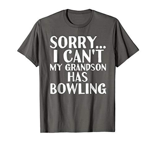 Grandpa Grandma | My Grandson Has Bowling (Bowling T-shirt Designs)