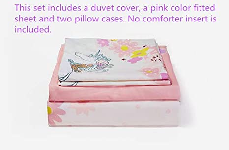 """Pink Princess Theme KFZ Girls Magic Unicorn Duvet Cover Queen Set 3PCs Kids Bedding Set with One 60/"""" x 80 Comforter Cover Hypoallergenic and Breathable ,2 Pillow Cases Without Comforter Insert"""