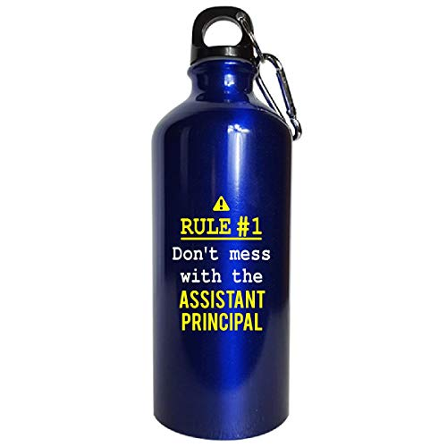 Don't Mess With The Assistant Principal - Water Bottle Metallic Blue