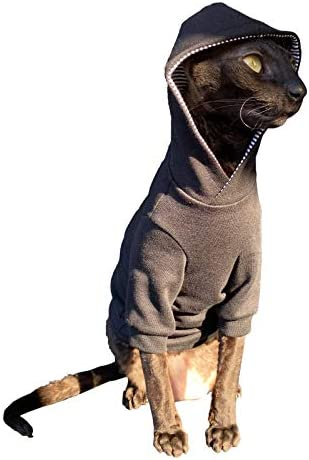 Kotomoda Sphynx Cat's Hoodie InBlack Naked Cat Hairless Cat Clothes 21