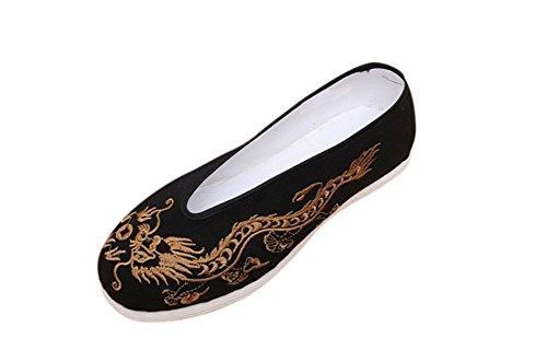 Kung Fu Martial Arts Tai Chi Shoes Deluxe Hand Sew Sole Soft Cushion #104 + Free Magazine Ao0wsQl9