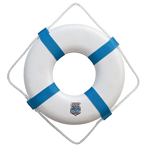 Cal-June ST-25-B Economy Ring Buoy 25-inch, with Blue Webbing