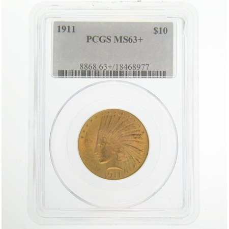 1911 Pre-1933 US Gold Coins $10 MS63+ PCGS