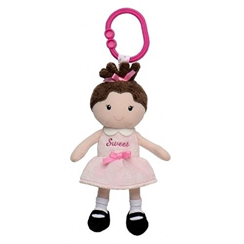 Stork Sales Mini Vibration Rattles with Hook - TuTu Doll - assorted Pink