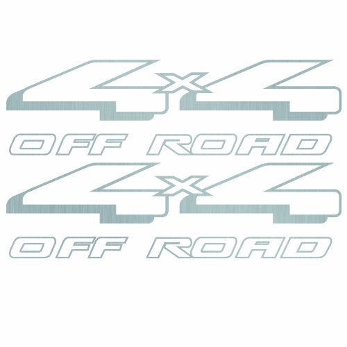 4x4 Bedside Decals (Silver) - 1997 1998 1999 Ranger Style