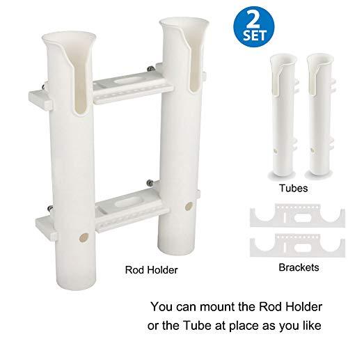 (CAIKEI Fishing Rod Rack Rod Holders Tube Rod Racks with Reel and Tools Slot for Rod Fishing, Deep Sea Fishing and Trolling )