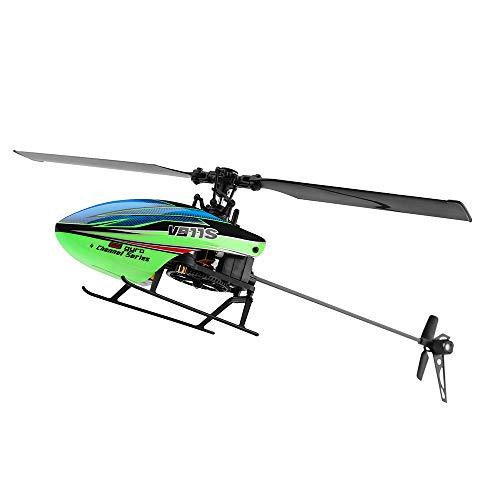 Flybarless Helicopter - Littleice WLTOY V911S 2.4G 4CH 6-Aixs Gyro Flybarless RC Helicopter RTF - Mode 2 Stable Flight