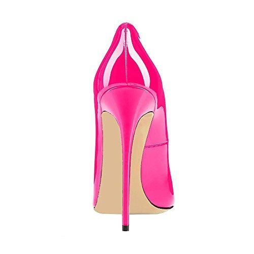 Schuhe Lutalica Hochzeit Spitz Frauen Abend Heel Farbverlauf Lack Pumps Sexy Pêche Stiletto vxq0vnOw