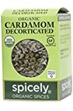 Spicely Organic Cardamom Decorticated 0.35 Ounce ecoBox Certified Gluten Free