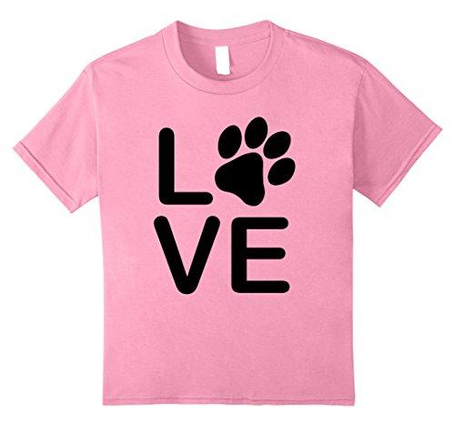 shirt - Womens Girls Guys Paw Print t-shirts. 12 Pink (Pink Dog T-shirt)