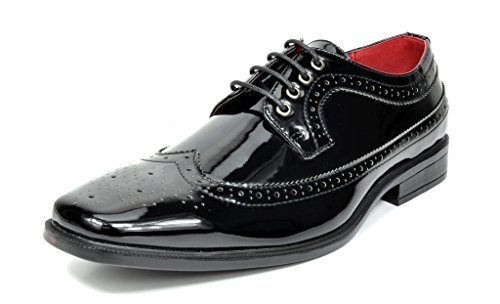 Bruno Marc CEREMONY Men's Formal Faux Patent Leather Tuxedo Oxfords Loafers With Classic Slip On/Lace Dress Shoes