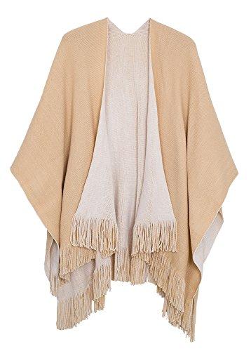 Urban CoCo Women's Vintage Poncho Cape Tassel Shawl Wrap Cardigan Coat...