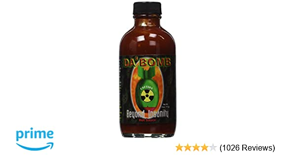 cfbb82f2318 Amazon.com : Da Bomb Beyond Insanity Hot Sauce, Bottle : Grocery & Gourmet  Food