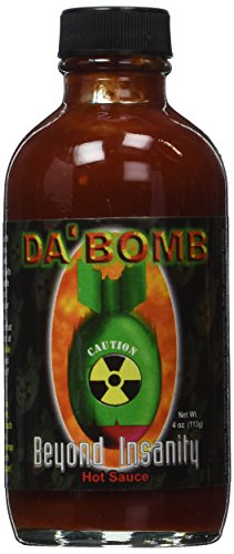 Da Bomb Beyond Insanity Hot Sauce, Bottle (Mega Death Sauce With Liquid Rage Scoville Units)