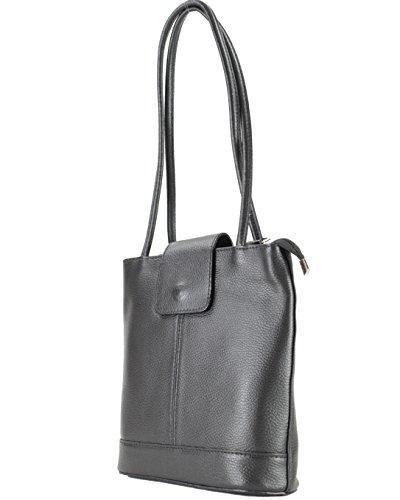 Histoiredaccessoires - Sac en cuir pour femme porté sur le dos ou l'épaule Sa145414rg-antonella Neronero