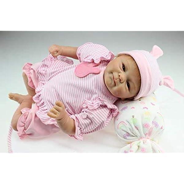 Amazon.es: iCradle Muñecas Reborn Bebé Realista Silicona Suave de Vinilo 18 Pulgadas 45cm Lifelike Bebé Reborn Niña Nacido Regalo de Juguete: Juguetes y juegos