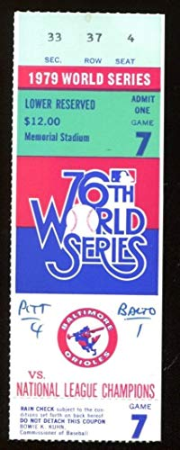 1979 World Series Game 7 Ticket Pirates Clinch We Are Family Stargell HR 43572