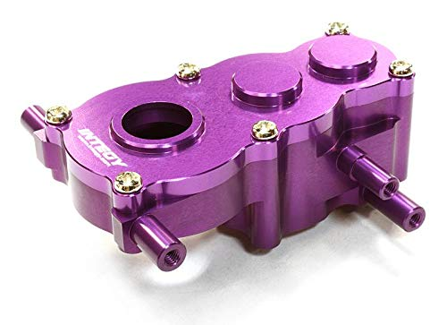 Integy RC Model Hop-ups C26507PURPLE Billet Machined Center Gear Box for HPI 1/10 Scale Crawler King