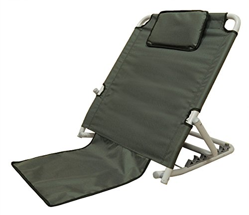 "ObboMed SM-5200G Adjustable Sit-up 6 positions Back Rest for Orthopedic Neck, Head and Lumbar Support, Polyester, PVC & Chromed Steel Frame, Gray, 22.5""25.6""19.7"", 1pce by ObboMed"
