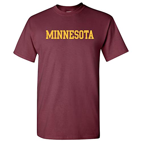 AS01 - Minnesota Golden Gophers Basic Block T-Shirt - Medium - Maroon (Minnesota Gopher Tailgating)
