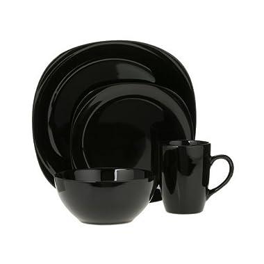 Quadro 16-pc. Dinnerware Set - Black