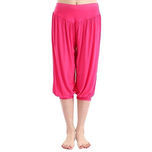 larga Pantaloni harem Grigio Pantaloni vita sportivi scuro in elastica stile Rosso fascia Minetom Aladdin 2 Yoga Donne 1 BwqgnYSC