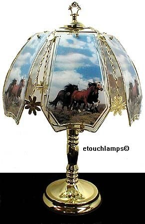 Polished Brass Horse (Horses on Range Touch Lamp with Polished Brass Base)