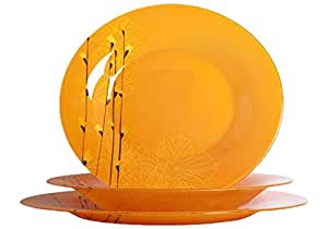 Luminarc rapsody Servicio de mesa, vidrio, naranja, 18 Piezas