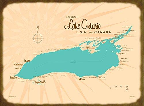 Amazon.com: Lake Ontario, Great Lakes Map Metal Sign: Handmade