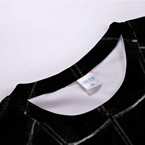 Pervobs Newest Mens Fashion 3D Print Splicing Short Sleeve T-Shirt Crew Neck Basic Causal Tee Shirts Blouse Tops (XL, BlackA) by Pervobs Mens T-Shirts (Image #4)