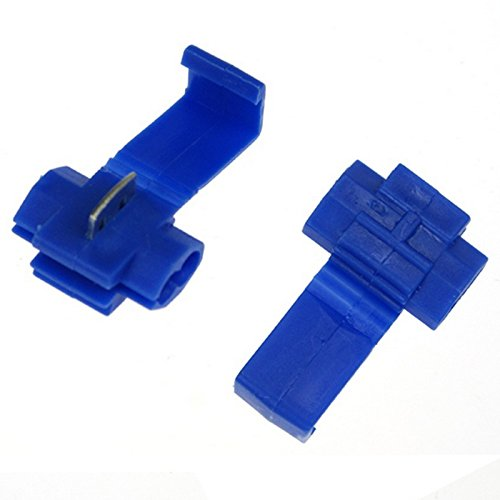 50pcs 802P3 Blue Scotch Lock Quick Splice 18-14 AWG Wire Connector 802P3 Ogry
