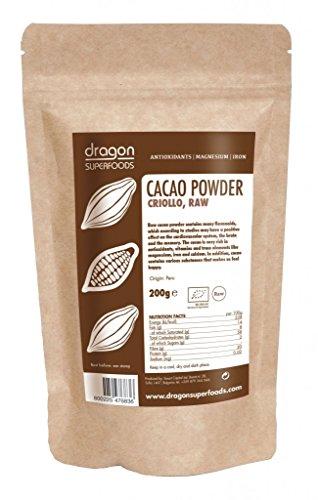 Dragon Superfoods Kakaopulver 200 g, Criollo, Rohkost